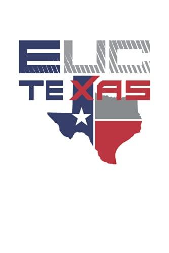 Monociclo elettrico del Texas: Quaderno foderato Journal, Notepad College Ruled, Medium Ruled ToDo Exercise Book, ad esempio per l'esercizio, o Diario (15x22cm) con 120 pagine.
