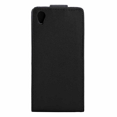PROTECTIVECOVER+ / for Sony Xperia X Plante Texture Plante Flip Coche Case Bolsa DE Cinta con Hebilla MAGNÉTICA =, Fashion Phone Funda para Protector (Color : Negro)