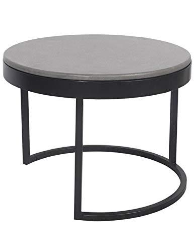 Creative Terrazzo salontafel/bijzettafel, smeedijzer ronde bank hoek woonkamer eenvoudige nachtkastje, multi-kleur/multi-size optioneel