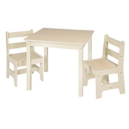 WOLTU 3 uds. Grupo de Asientos para Niños Mesa y 2 Sillas en Edad Preescolar Muebles para Niños SG001