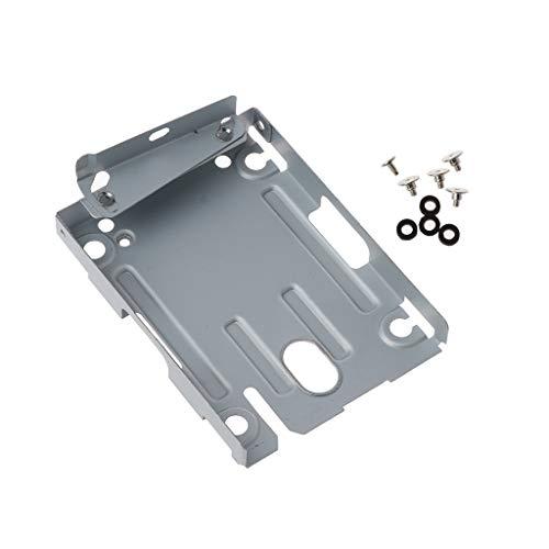 Junlinto, Hard Disk Drive HDD Base Tray Supporto Staffa di Montaggio per Playstation 3 PS3 Slim S 4000 con Viti