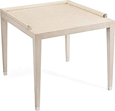 Amazon.com: 4D Concepts End Table with Slate Top, Metal