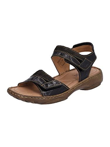 Josef Seibel Damen Klassische Sandalen Debra 19,Weite G (Normal),Sandaletten,Sommerschuhe,klettsandalen,bequem,Schwarz (schwarz-Multi),36 EU / 3 UK