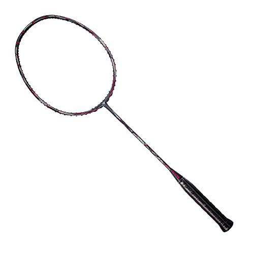 DADM Strapazierfähiger hochwertiger Badmintonschläger aus leichter Kohlefaser für Wettbewerbe (US-C) (rot)
