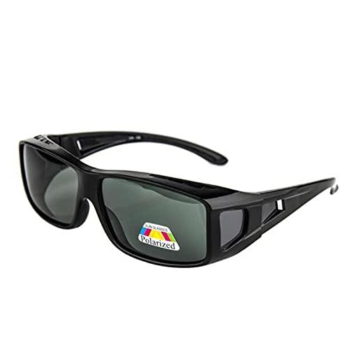 QIULAO Gafas anti-polen Gafas de sol, Gafas de sol polarizadas para miopía, Antigoteo, A prueba de polvo, Gafas de seguridad adecuadas para hombres y mujeres adultos, Gafas de miopía de montura grande