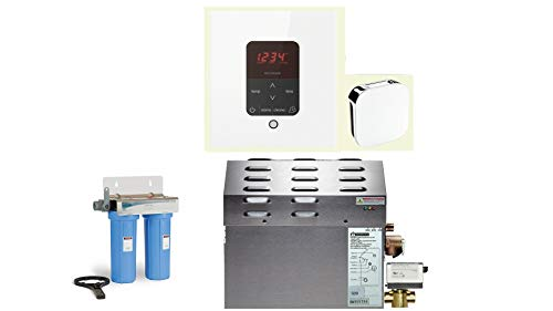 Best Review Of Mr Steam - Steam Bath Generator Package in Square White Finish with Automatic Flush V...