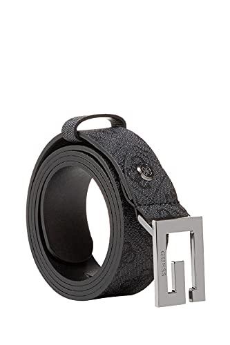 Guess bw7417vin35 cinta pelle cintura donna logo nero