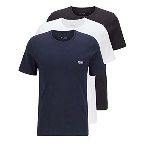 BOSS T-Shirt RN 3P CO Capa de Base Superior, Open Miscellaneous984, S para Hombre