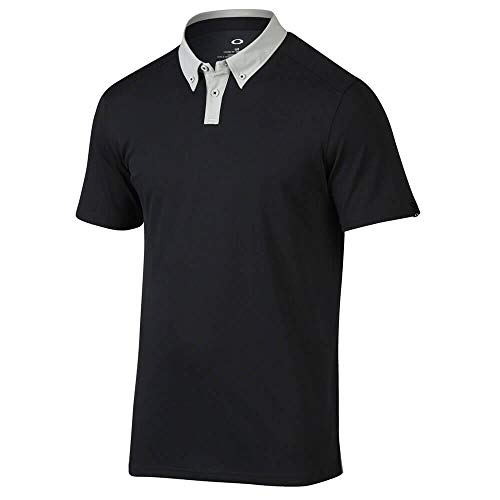 Oakley Native Polo Homme, Blackout, FR : 28 (Taille Fabricant : S)