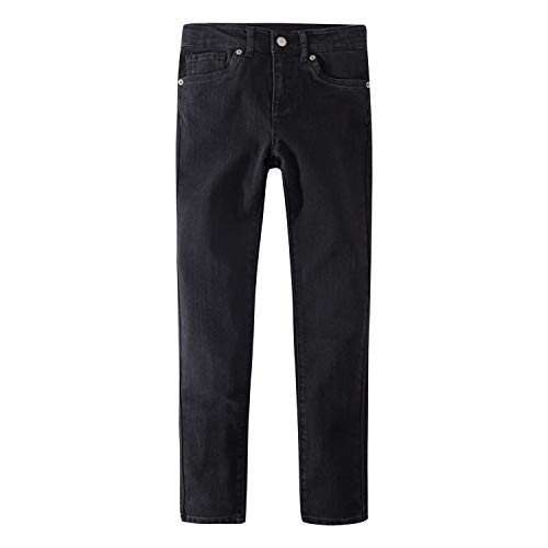 Levi's Girls' Big 721 High Rise Skinny Fit Jeans, Soft Black, 10