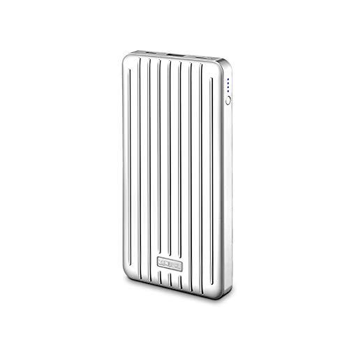 JIEXIAO 10000Mah Power Bank, Ultra-Thin 18WPD Fast Charging Flash Charging Mobile Power Dual Port Large Capacity,White