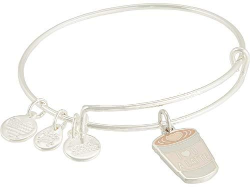 Alex and Ani I Love You A Latte Bangle Bracelet Neutral One Size