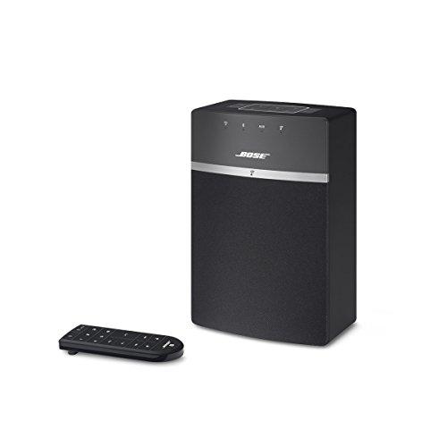 Bose SoundTouch 10, sistema musicale wireless, adatto per Alexa, Bluetooth/Wi-Fi, Telecomando, colore Nero