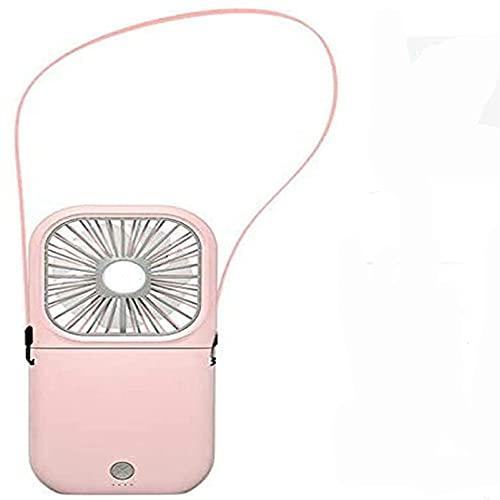 PEARFALL Mini ventilador USB, banco de energía plegable de escritorio portátil de 3 velocidades que puede cargar las necesidades exteriores del teléfono móvil