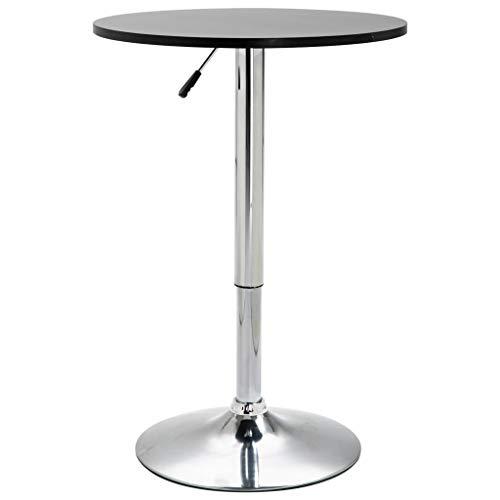 FAMIROSA Bar Table Black 脴60 cm MDF-9666