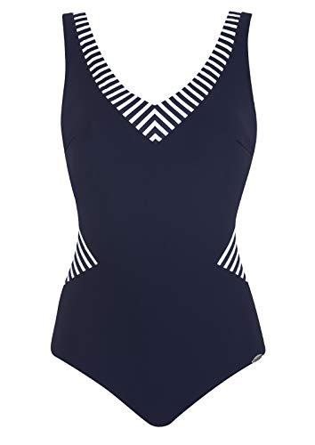 Sunflair Badeanzug Basic Cup C, Farbe Nachtblau, Größe 46