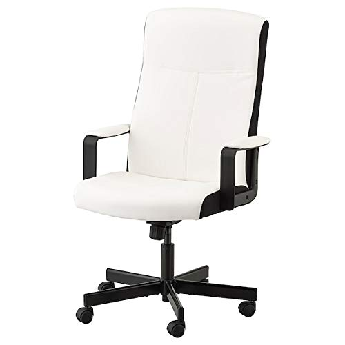 DiscountSeller Millberget Drehstuhl, kimstad weiß, 65 x 123 x 52 cm, langlebig und pflegeleicht. Schreibtischstühle für zu Hause. Schreibtischstühle. Möbel. Umweltfreundlich.