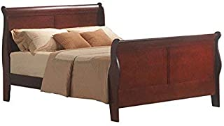 Acme Louis Philippe III Eastern King Bed, Cherry Finish