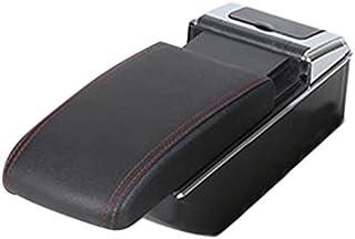pour Renault//pour Dacia Duster I 2010-2015 2013 2014 LUOERPI Bo/îte de Rangement en Cuir Noir pour accoudoir Rotatif avec accoudoir de Voiture
