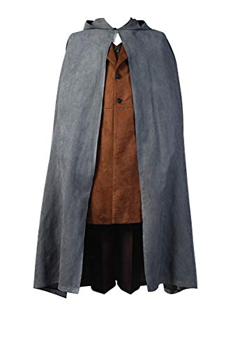 RedJade Frodo Baggins Herr der Ringe Umhang Cosplay Kostüm Cape Mantel Komplett Set Herren M