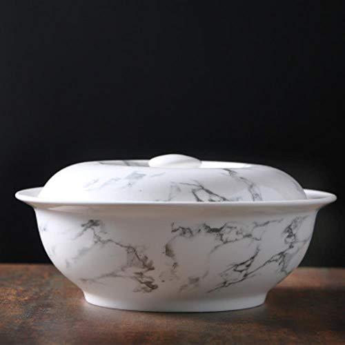 Cerámica Set Oval Plato Bowl Plato Pot Cuchara Vajilla Cocina Hogar, Cata Olla