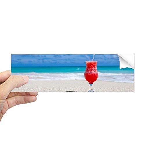 DIYthinker Ocean Zand Strand Watermeloen Sap Foto Rechthoek Bumper Sticker Notebook Window Decal