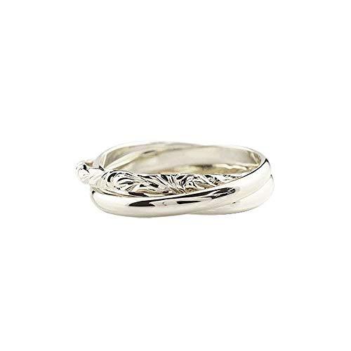 [アトラス]Atrus リング レディース ハワイアンジュエリー 18金 ホワイトゴールドk18 3連リング 甲丸 指輪 ピンキーリング 8号