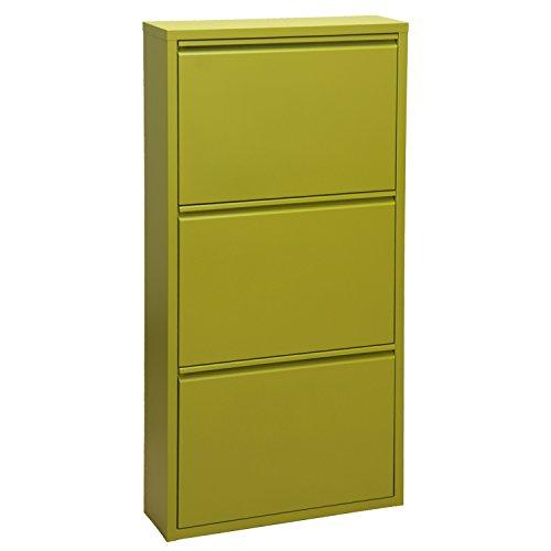 PAME Mueble Zapatero, Verde, 103x50x15cm