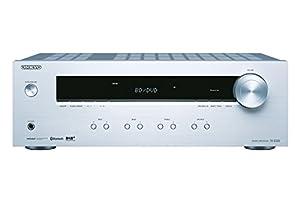 Onkyo TX-8220(S) Stereo Receiver (Hifi Verstärker 100 W/Kanal, Multiroom, Bluetooth, Streaming, DAB+/FM/RDS-Radio, MM-Phono-Vorverstärker für Plattenspieler), Silber