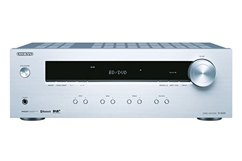 Onkyo Tx-8220(S) Stereo Receiver, Hifi versterker 100 W/kanaal, Multiroom, Bluetooth, streaming, DAB+/FM/RDS-radio, Zilver