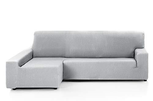 Martina Home Funda de sofá, para sofás de 240-280 cm, Gris Alma, Chaise Longue Brazo Izquierdo