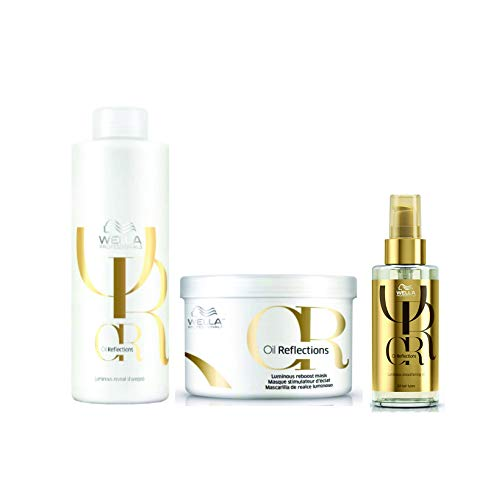 Kit Shampoo Máscara e Óleo Wella Oil Reflections