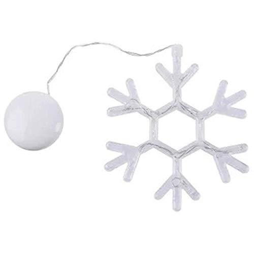 XXLYY Luces colgantes para ventana con ventosa de Navidad, funciona con pilas, luces colgantes LED acrílicas blancas frías impermeables con ventosa para decoración de interiores y exteriores, regalo d