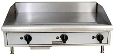 "Toastmaster TMGM36 36"" Stainless Steel Griddle, Gas, Countertop, Natural Gas"