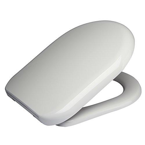 WOLTU 2443 Premium WC Sitz ABSENKAUTOMATIK TOILETTENDECKEL TOILETTENSITZ WC SITZ Exclusive Weiß
