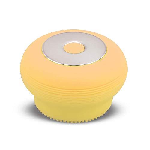 Escova Sônica para Limpeza Facial Bella Mini Recarregável, Multilaser, HC186, Amarela