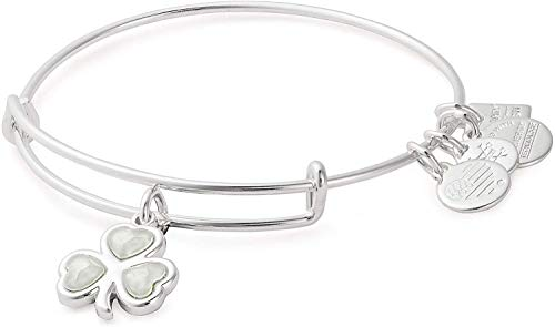 Alex and Ani Women's Charity by Design Crystal Shamrock Bangle Bracelet