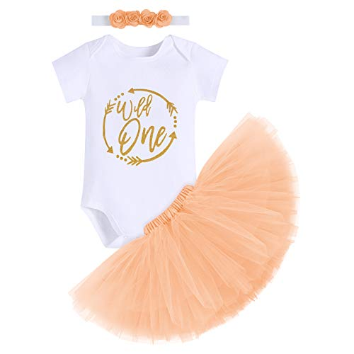 FYMNSI Infant Baby Girl Wild One First 1st Birthday Cake Smash Outfit...