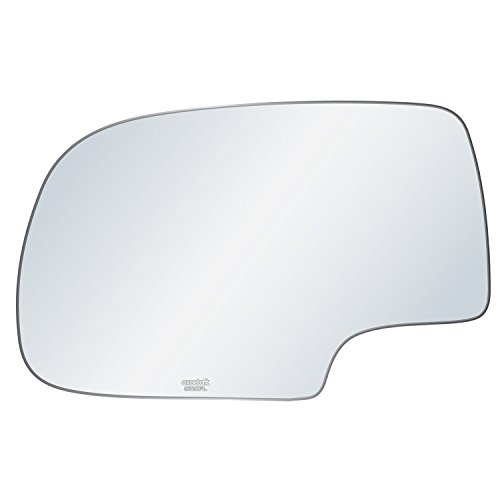 exactafit 8720PL Driver Side Mirror Glass Replacement Plus 3m Adhesives Compatible With Chevy GMC Cadillac Silverado Tahoe Sierra Yukon 1500 2500 3500 Left Hand Door Wing LH