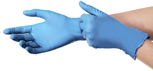 100PC Medium Disposable Nitrile Gloves Safety Protective Gloves Cleaning Gloves,Industrial Gloves Powder Free, Latex Free (M) Blue