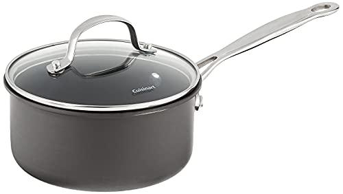 Cuisinart Chef's Classic Nonstick Hard-Anodized 1.5-Quart Saucepan with Lid, Black