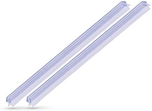 KANWA® Duschdichtung für Duschtüren - 6mm 7mm 8mm Glastüren - für eine trockene Dusche in Ihrem Bad - Duschkabinen Erstausrüster-Qualität - Duschtürdichtung 2x 100cm