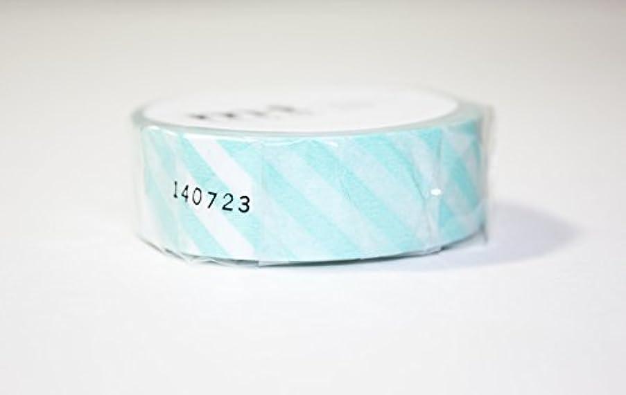 MT Washi Masking Tape, 1P Deco, 15mm x 10m, Stripe Mint (MT01D244)