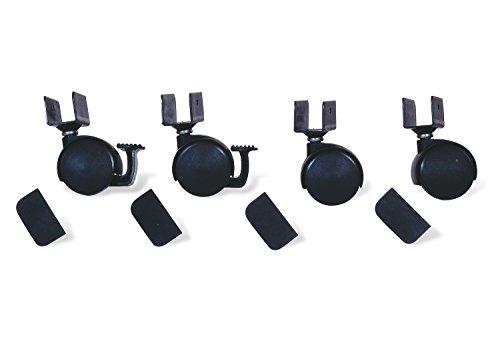 Pinolino 560 003 - Juego de ruedas para cuna con enganche en U, negro