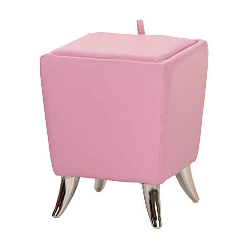 CLP Sitzhocker Roxy Kunstleder I Quadratischer Hocker Mit Polsterung I Sitztruhe Mit Stauraum Und Deckel I In Vielen Farben, Farbe:pink