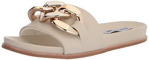 Steve Madden Women's Delay Slide Sandal, Bone, 8