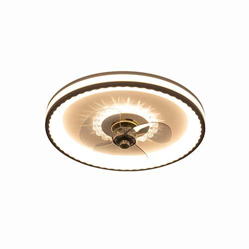 KWY Ventilador de Techo LED Ventilador de lámpara de araña, Regulable con Control Remoto, Velocidad de Viento Ajustable Regulable, Dormitorio Moderno