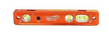 Swanson Tool Co TLL049M Savage Lightning Aluminum Torpedo Magnetic Illuminated Levels 9  3 Vials