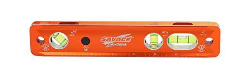 Swanson Tool Co TLL049M Savage Lightning Aluminum Torpedo Magnetic Illuminated Levels, 9