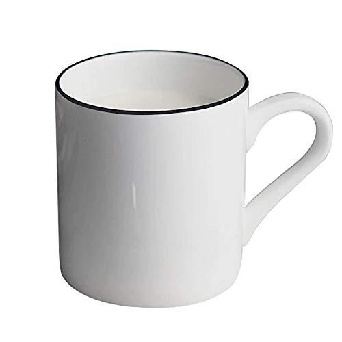 No logo Dudu Tassen Weiß Minimalist Paar Tasse Keramik Frühstück Trinkbecher Haferflocken Cup Saft Kuh Joghurt Tee Milch Cup Haushalt Geschirr / 350ml